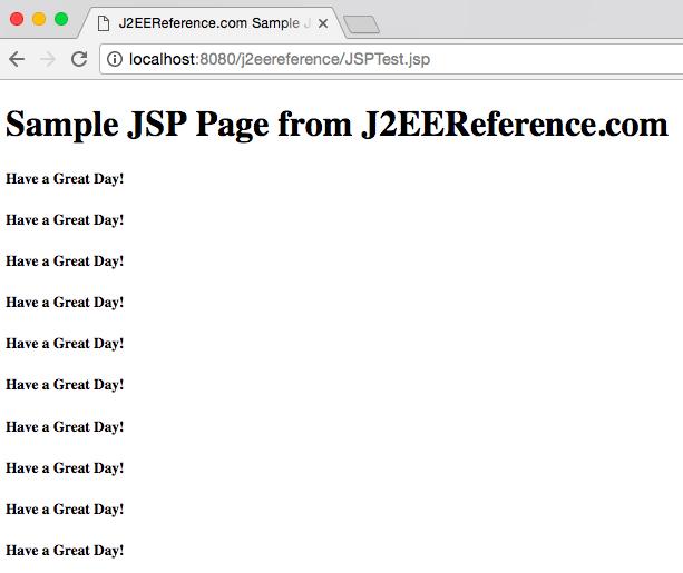 J2EEREFERENCE.COM JSP OUTPUT